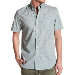 Kennington Men's Gray Short Sleeve Slim Fit Shirt
